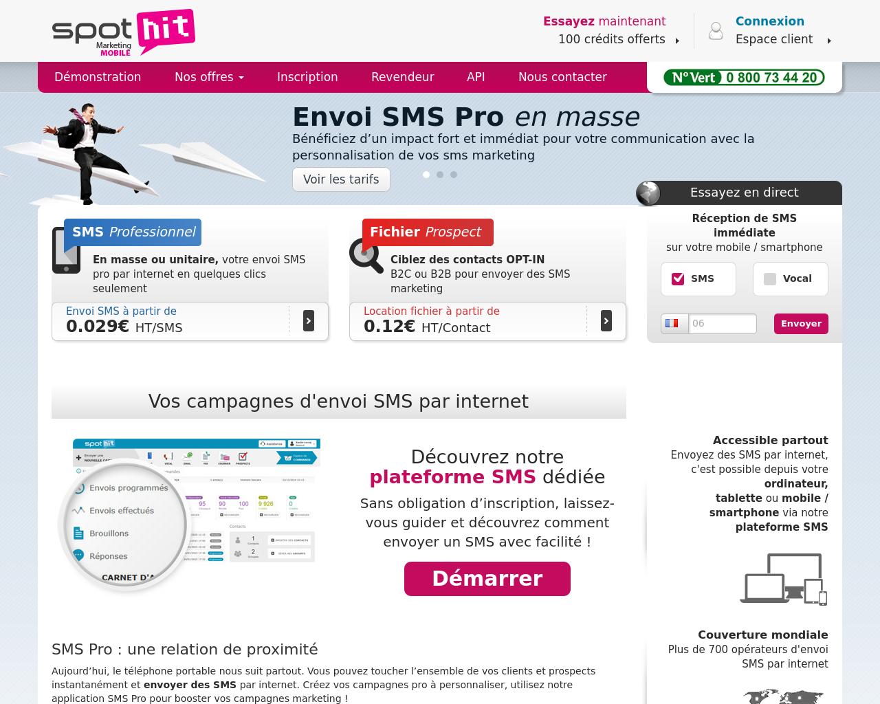 Spot Hit, commandez vos campagnes SMS en ligne